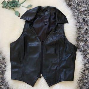 Sz S Wilsons Black Leather Vest